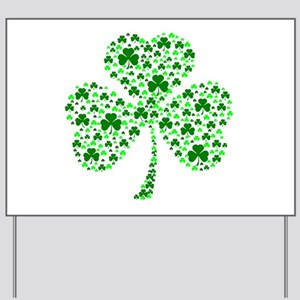 Irish Shamrocks Yard Sign