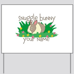 Personalized Snuggle Bunny Yard Sign