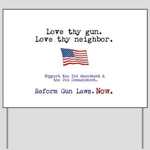Gun Protection Yard Signs Cafepress
