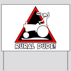 RURAL DANGER TRIANGLE 3t Yard Sign