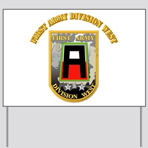 SSI - First Army Division West with Text Yard Sign