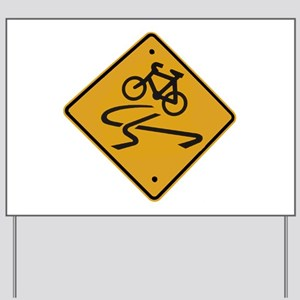 Dangerous riding cycling Yard Sign