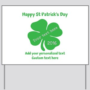 St Patricks Day Personalized Yard Sign