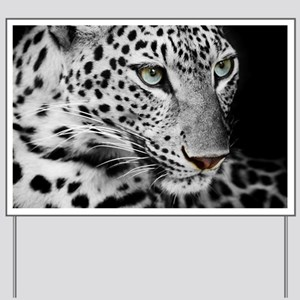 White Leopard Yard Sign