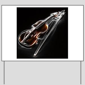 Music Violin Yard Signs - CafePress
