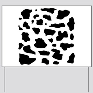 Cow pattern Yard Sign