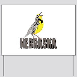 NEBRASKA Meadowlark Yard Sign