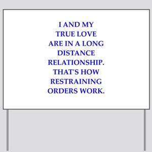 Long Distance Relationship Yard Signs - CafePress