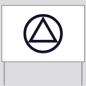 Alcoholics Anonymous Symbol Aa Yard Signs Cafepress