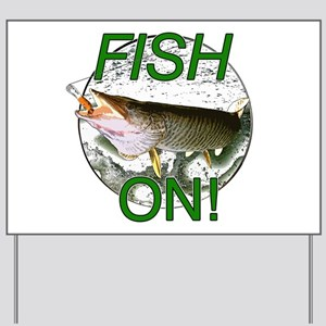Musky fish on Yard Sign
