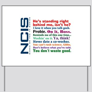 NCIS Quotes Yard Sign