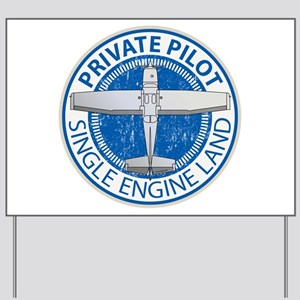 Aviation Private Pilot Yard Sign