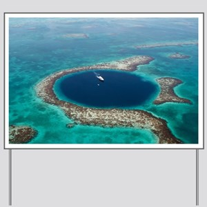 GREAT BLUE HOLE 1 Yard Sign