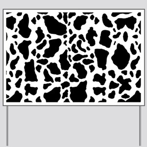 Cow Print Pattern Yard Sign