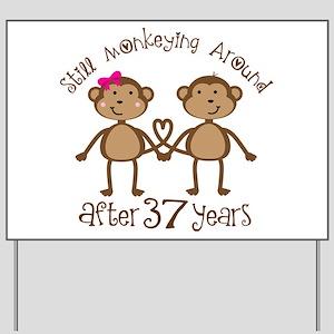 37th Wedding Anniversary Yard Signs Cafepress