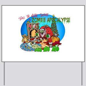 Twas the Night Before Zombie Yard Sign