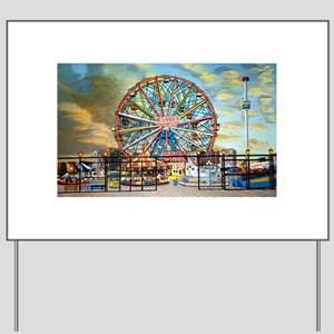 Wonder Wheel Park Yard Sign