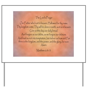 The Lord's Prayer Christian Yard Sign
