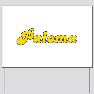 Retro Paloma (Gold) Yard Sign