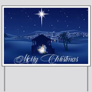 Merry Christmas Nativity Yard Sign