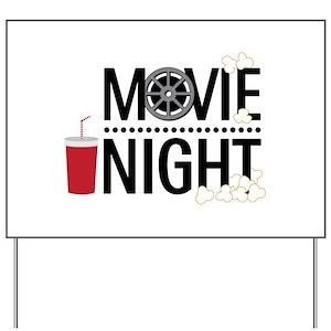 Movie Night Yard Sign