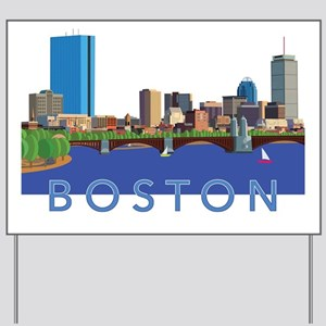 Cool Crisp Illustration of the Back Bay Yard Sign