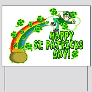 Happy St. Patrick's Day Classic Yard Sign