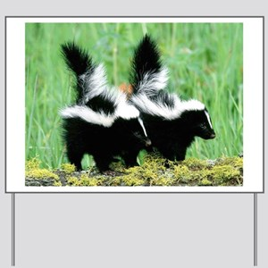 Two Skunks Yard Sign