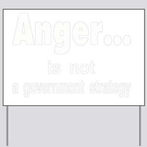anger for dark Yard Sign