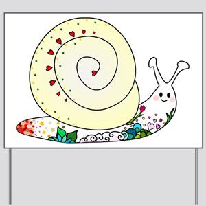 Colorful Cute Snail Yard Sign