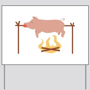 Pig Roast Yard Sign
