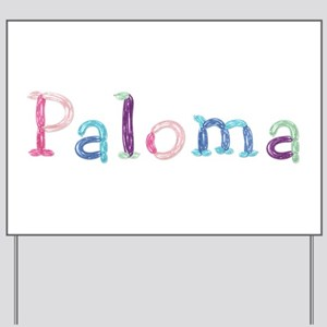 Paloma Princess Balloons Yard Sign