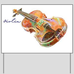 Violin Player Yard Signs - CafePress