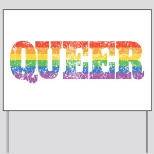 Retro Queer Yard Sign