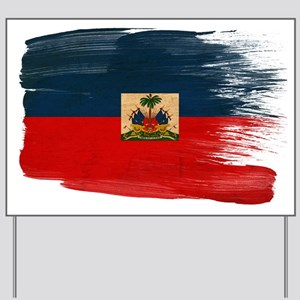 Haiti Flag Yard Sign