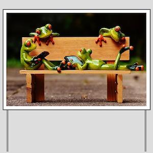 Funny Frog Yard Signs Cafepress