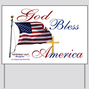 God Bless America Yard Signs - CafePress