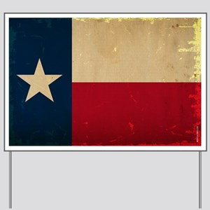 Texas State Flag VINTAGE Yard Sign