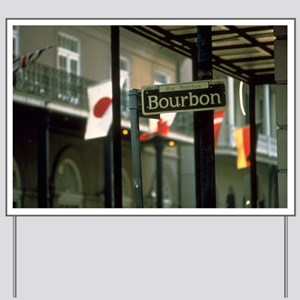 Bourbon Street Sign in New Orleans Yard Sign