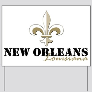 New Orleans Louisiana gold Yard Sign