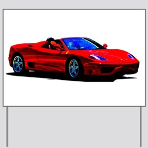 Red Ferrari - Exotic Car Yard Sign