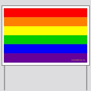 Classic Rainbow Flag Yard Sign