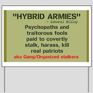 Gang Stalking Yard Signs - CafePress