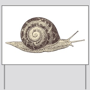 Hand painted animal snail Yard Sign