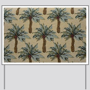Palm Trees Fabric Pattern Yard Sign