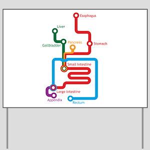 Subway Map Sign.Metro Map Yard Signs Cafepress