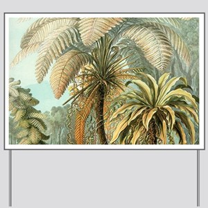 Vintage Tropical Palm Yard Sign