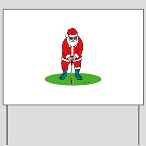 Santa plys golf Yard Sign