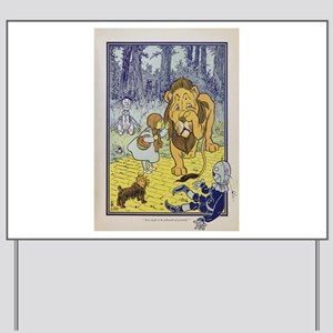 Cowardly_Lion_from_Dorothy_Wizard_of_Oz_ Yard Sign