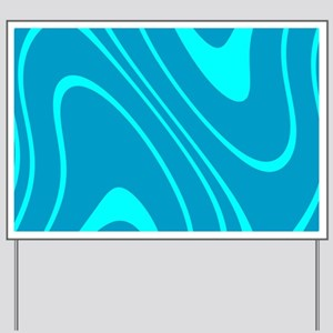 Chic Abstract Blue Hues Sky Dylan's Fave Yard Sign